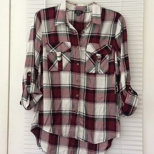 NWT Justify Button Down Blouse Med Juniors